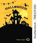 background of pumpkin silhouette | Shutterstock .eps vector #788225182