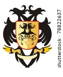 two headed heraldic eagle with... | Shutterstock .eps vector #78822637