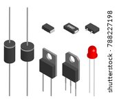 set of diodes of different... | Shutterstock . vector #788227198