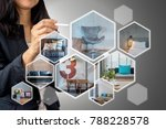 business woman  architect  ... | Shutterstock . vector #788228578
