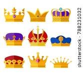 golden crowns of kings  prince...   Shutterstock . vector #788231032