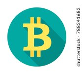 bitcoin circle icon with long...   Shutterstock .eps vector #788241682