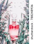 perfume bottle with plants and... | Shutterstock . vector #788248936