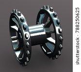 metallic gearwheel 3d rendering   Shutterstock . vector #788250625