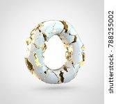 cracked letter o uppercase. 3d... | Shutterstock . vector #788255002