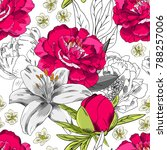 vector seamless pattern with...   Shutterstock .eps vector #788257006