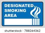 designated smoking area sign... | Shutterstock . vector #788264362