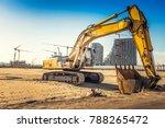 excavator on construction site... | Shutterstock . vector #788265472