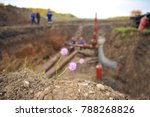 gas compressor station. the gas ... | Shutterstock . vector #788268826