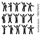 stick figure happiness  freedom ... | Shutterstock .eps vector #788278492