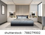 3d Rendering Modern Luxury Blu...