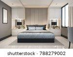 3d rendering modern luxury blue ... | Shutterstock . vector #788279002