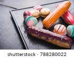 sweet dessert macaroon and...   Shutterstock . vector #788280022