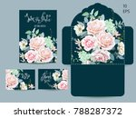 wedding set with invitations... | Shutterstock .eps vector #788287372