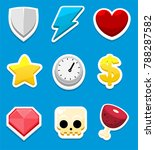 collection of icons used for 2d ...