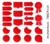 red vector price tags | Shutterstock .eps vector #78829114
