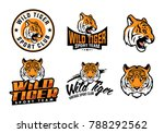 a set of illustrated tiger... | Shutterstock .eps vector #788292562