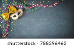 masquerade decorations with... | Shutterstock . vector #788296462