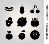 fruits vector icon set. berry ... | Shutterstock .eps vector #788299882
