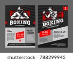 boxing tournament posters ... | Shutterstock .eps vector #788299942
