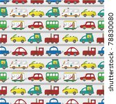 seamless cartoon car pattern | Shutterstock .eps vector #78830080