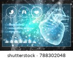 media medicine background image ... | Shutterstock . vector #788302048