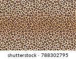 animal leopard brown beige... | Shutterstock .eps vector #788302795