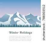 landscape with mountain peaks.... | Shutterstock .eps vector #788303512