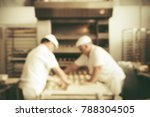 blurred bakery shop in... | Shutterstock . vector #788304505