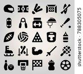 sport vector icon set. field ...   Shutterstock .eps vector #788305075