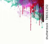 abstract watercolor background. ... | Shutterstock . vector #788311252