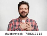 positive cheerful bearded male... | Shutterstock . vector #788313118