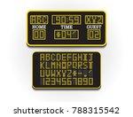 digital score board for sport... | Shutterstock .eps vector #788315542
