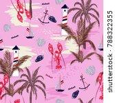 beautiful seamless pattern... | Shutterstock .eps vector #788322355