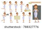 model woman set of female. girl ... | Shutterstock .eps vector #788327776