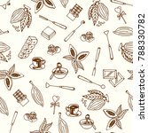 chocolate cacao sketch seamless ... | Shutterstock .eps vector #788330782