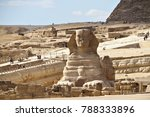 the great sphinx of giza  an... | Shutterstock . vector #788333896