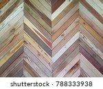 brown wooden boards in chevron... | Shutterstock . vector #788333938