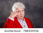 gray hairy elderly woman... | Shutterstock . vector #788334556