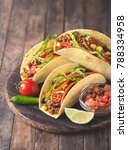 mexican tacos with beef ... | Shutterstock . vector #788334958