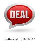 deal badge 3d illustration...   Shutterstock . vector #788342116