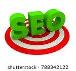 seo 3d illustration isolated on ...   Shutterstock . vector #788342122