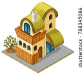 3d isometric cottage for...