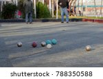 boules is a collective name for ...   Shutterstock . vector #788350588