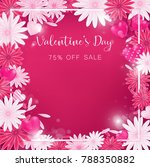 valentine floral invitation is... | Shutterstock .eps vector #788350882