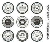 vector premium quality label... | Shutterstock .eps vector #788352022