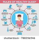 sleep infographic. rules of... | Shutterstock .eps vector #788356546