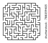 abstract maze   labyrinth with... | Shutterstock .eps vector #788359405