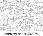 math vector seamless pattern... | Shutterstock .eps vector #788364292
