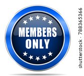 members only vector icon....   Shutterstock .eps vector #788365366